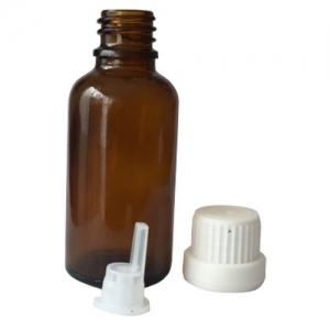 frasco ambar con precinto terapia floral
