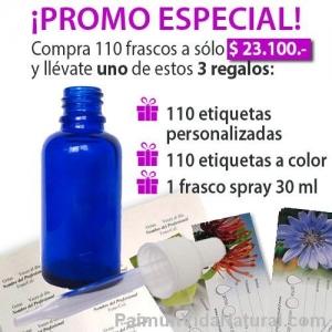 frascos con gotario para esencias florales