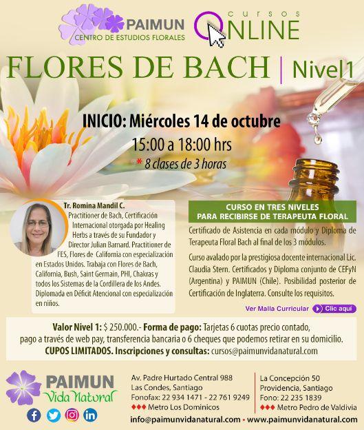 curso flores de bach octubre